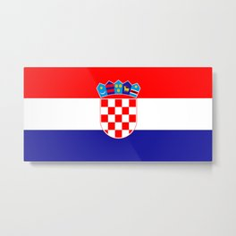Flag of Croatia Metal Print
