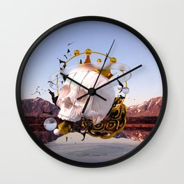 3D ABSTRACT - GOLD - GLASS - OIL - PORCELAIN Wall Clock