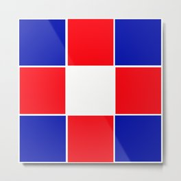 TEAM COLORS 3 ....BLUE , RED Metal Print