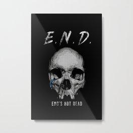 END Metal Print