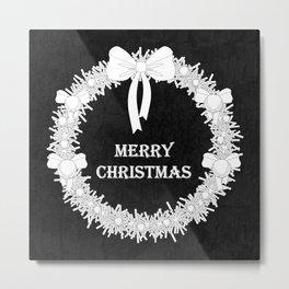 Bold Christmas Wreath Metal Print