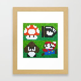 Mario World 8-bit Framed Art Print