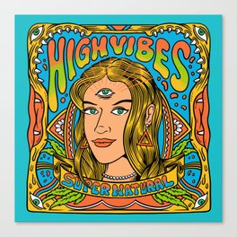 Psychedelic Vibes Canvas Print