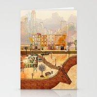 brooklyn Stationery Cards featuring Brooklyn by Gobblynne