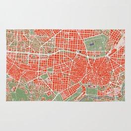 Madrid city map classic Rug