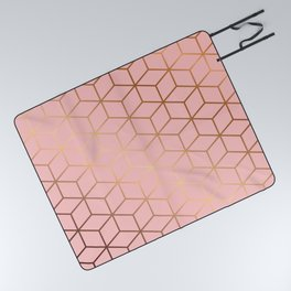 Pink and Gold Geometry 011 Picnic Blanket