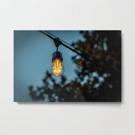 Light in the Courtyard Metal Print