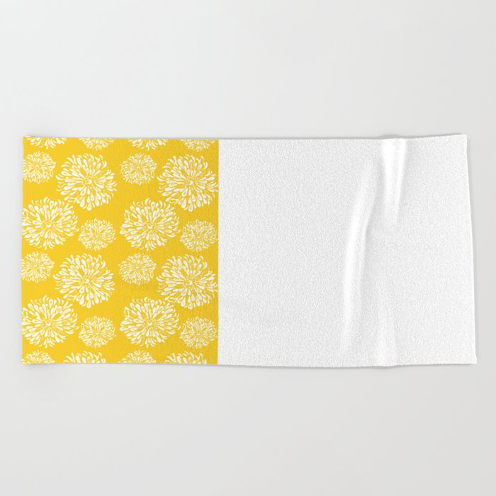 Yellow Zinnias Beach Towel