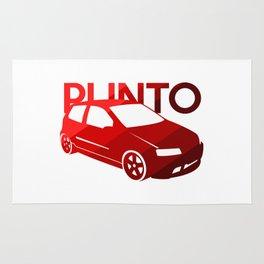 Fiat Punto - classic red - Rug