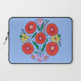 Hungarian embroidery inspired pattern blue Laptop Sleeve