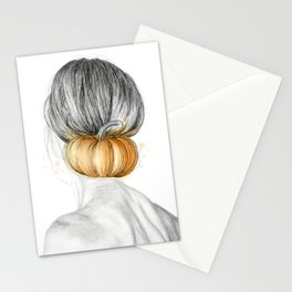 Halloween woman Stationery Cards