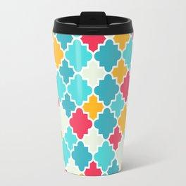 Quatrefoils in turquoise, multicolor Travel Mug
