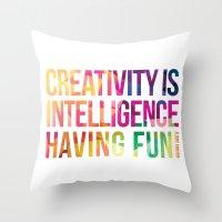 creativity Throw Pillows featuring Creativity  by DesignByDerek