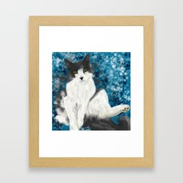 Fluffy Boy Framed Art Print