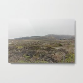 Osos bay park, marine layer rolling over the hills Metal Print