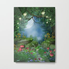 Enchanted Summer Night Metal Print