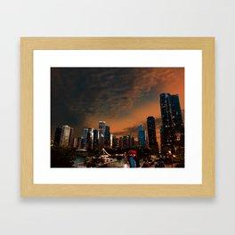 Golden Hour Chicago Framed Art Print