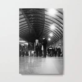 Waiting for a Train Metal Print