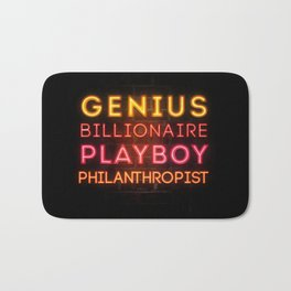 Iron Man: Genius Billionaire Playboy Philanthropist Bath Mat