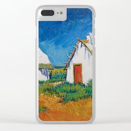 Three white cottages in Saintes-Maries Clear iPhone Case