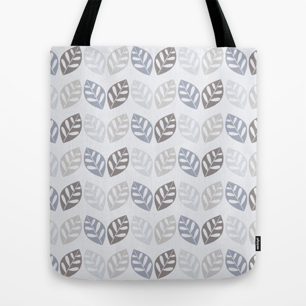 Retro Leaves Pattern Silver Tote Purse by Zennykenny (TBG9770950) photo