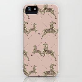 Royal Tenenbaums Zebra Wallpaper - Dusty Pink iPhone Case