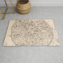 Vintage Map of Leuven Belgium (1746) Rug