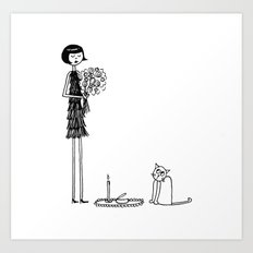 Eloise wondered if she had crossed the threshold into crazy cat lady territory Art Print