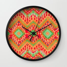 itzel - candy + lime Wall Clock