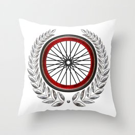 Ride On Shield  Throw Pillow
