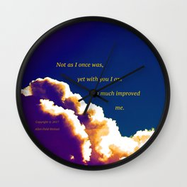 """""""Post-Rain Clouds #18"""" with poem: New Beginnings Wall Clock"""