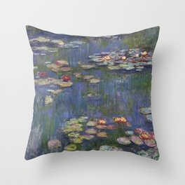 Water Lilies (Nymphéas), c.1916 Art, Monet Throw Pillow