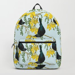 Tuis in the Kowhai Flowers Backpack
