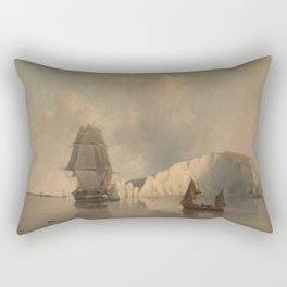 Off the Needles Isle of Wight Rectangular Pillow