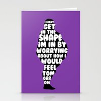 fat Stationery Cards featuring Fat by Zeke Tucker