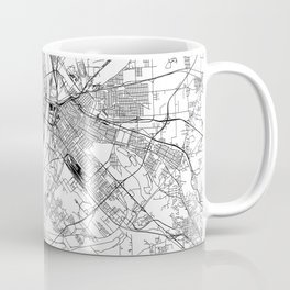 St. Louis White Map Coffee Mug