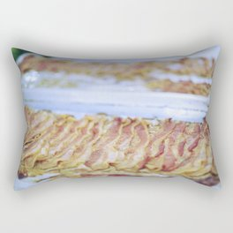 bacon on aluminum foil Rectangular Pillow