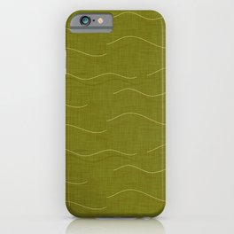 SHARK WHALE WAVES GREEN iPhone Case