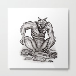 Mix - creature - Troll Devil and Golem Gargoyle Metal Print