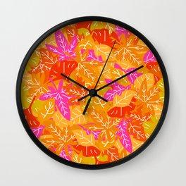 Autumn Leaves_J Wall Clock