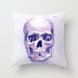 Skull Watercolor Skulls Throw Pillow
