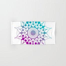 Mandala #2 (Purple Pink Turquiose) Hand & Bath Towel