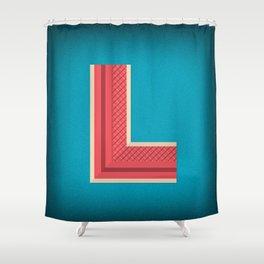 Letter L Initial Cap Shower Curtain