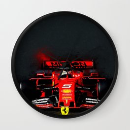Sebastian Vettel Wall Clock