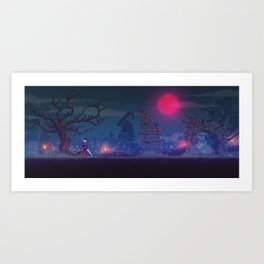The Bloodmoon Art Print