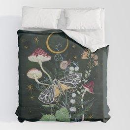 Mushroom night moth Duvet Cover