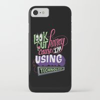 technology iPhone & iPod Cases featuring Using Technology by Chris Piascik