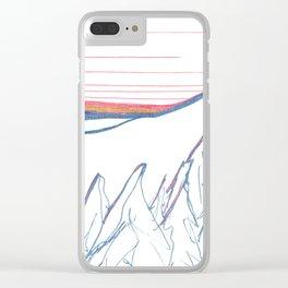 Alaska Winter Solstice Clear iPhone Case