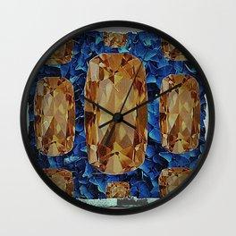 SHABBY CHIC NOVEMBER CITRINE GEMS BIRTHSTONE Wall Clock