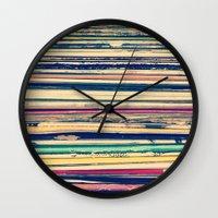 vinyl Wall Clocks featuring Vinyl  by Laura Ruth